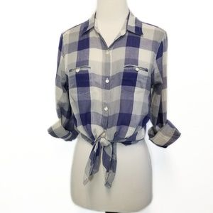BDG Urban Outfitters Blue & Gray Checked Shirt S
